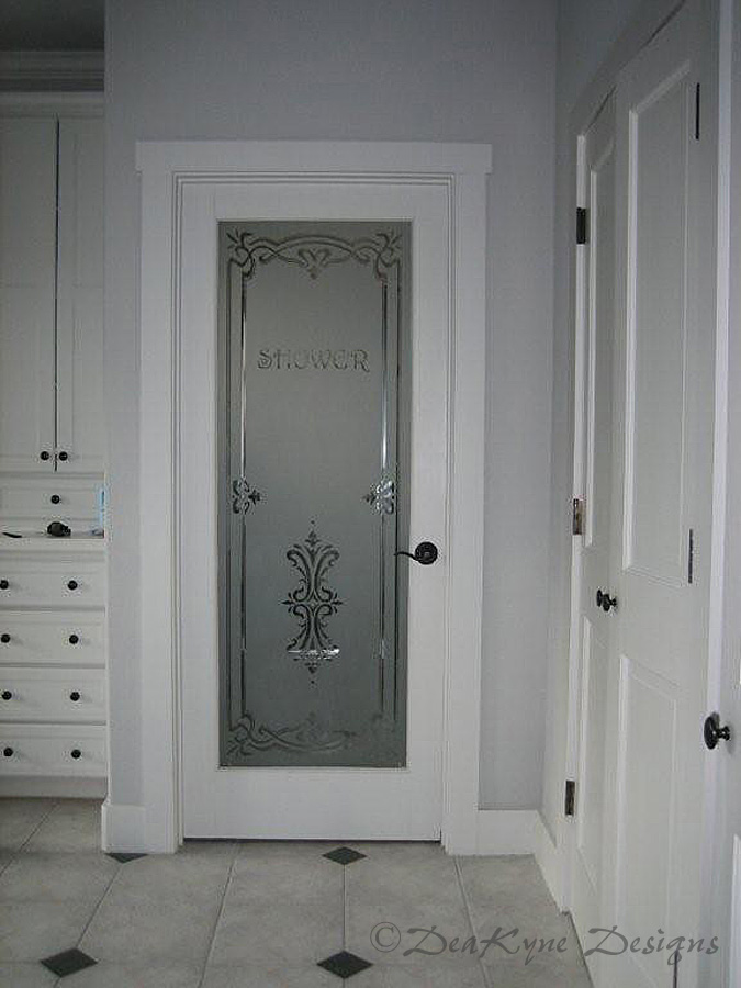 Cabinet Door Etched Glass Cabinet Doors